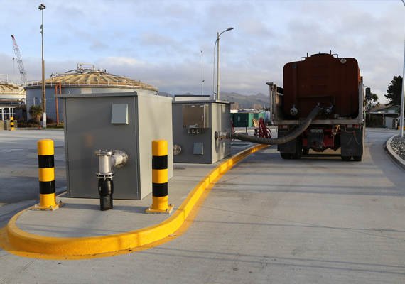 Two Portalogic DS-82 Dump Stations at a septage receiving facility