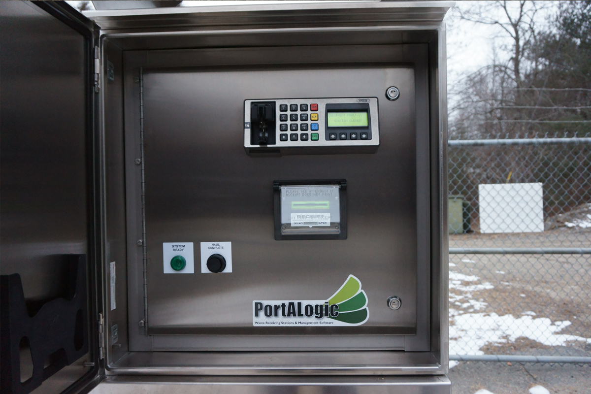 This DS-25 Portalogic waste dump staton is insulated and heated for use in an extremely cold climate.