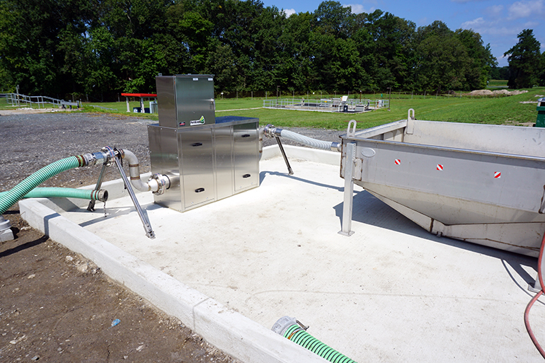 A Portalogic DS-25 Septage Receiving Station at the Pocomoke City Wastewater Treatment Plant.