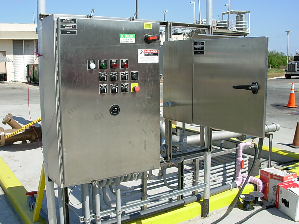 Control panels by EleMech for a Portalogic Septage Receiving Station in Port Charlotte, FL